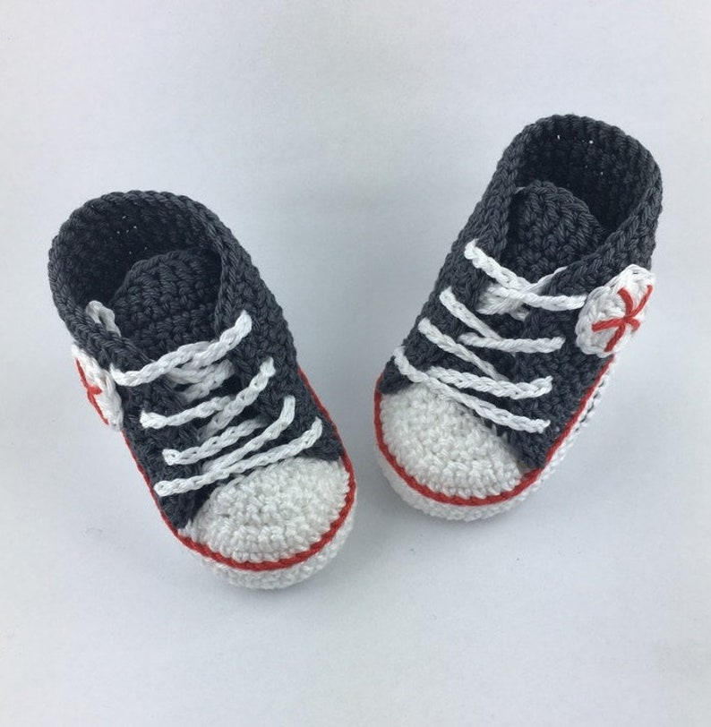 Baby sneakers anthracite  red 185 image 0