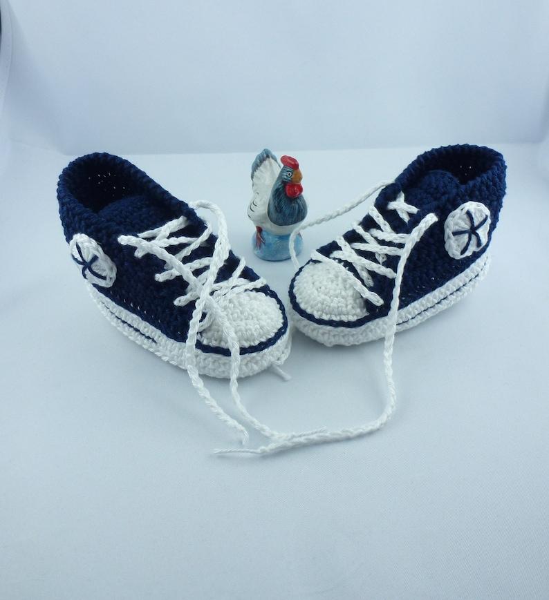 Baby sneakers 024 dark blue 11 cm image 0