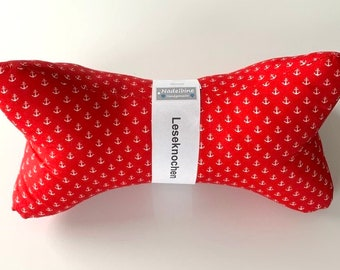 Reading bone/neck cushion/neck supportanchor red and mini dots (033)