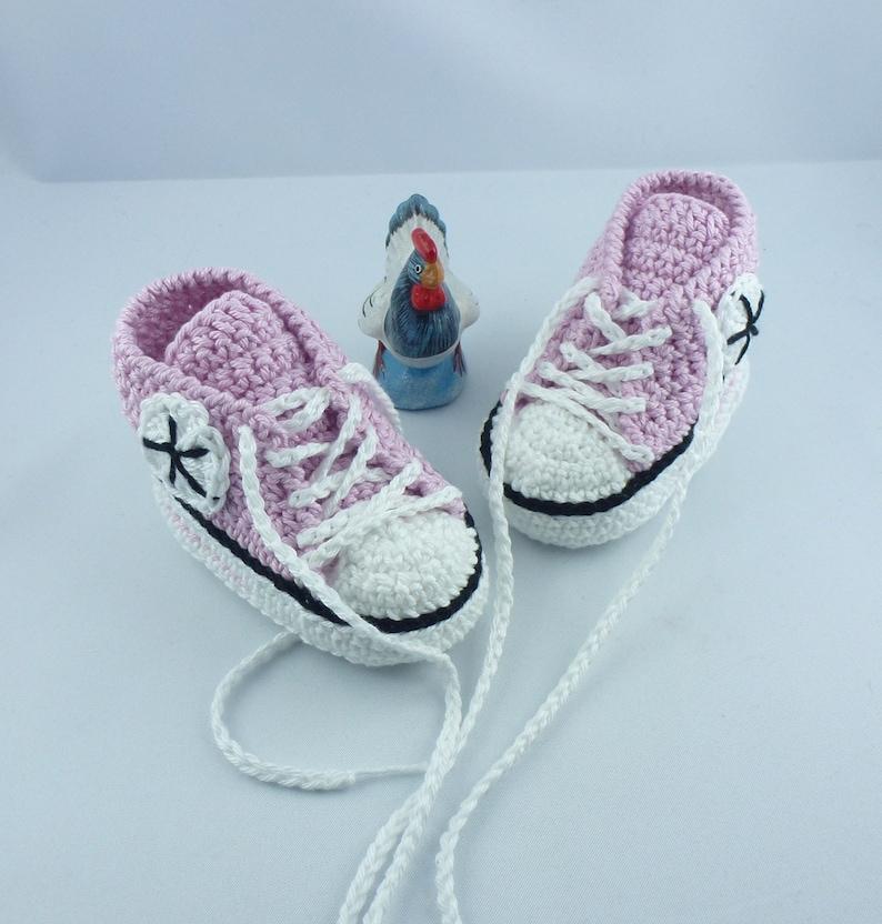 Baby Sneakers  Pink Black 007 image 0