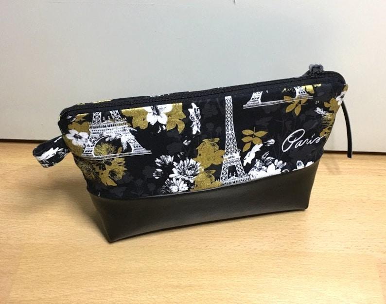 Cosmetic bag black Paris 101 image 0