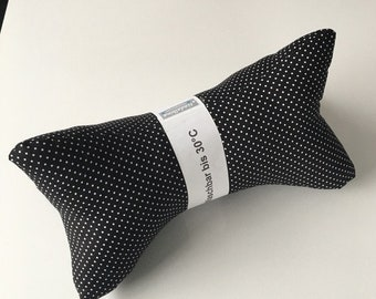 Reading bone/neck cushion/neck support (119) black with white dots