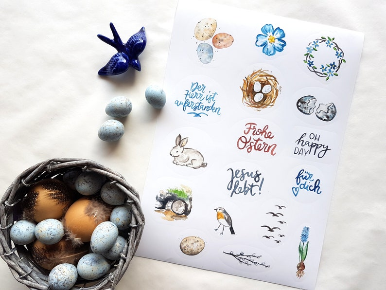 Embroidery Arch  Easter  A4  17 Sticker  Watercolor image 0