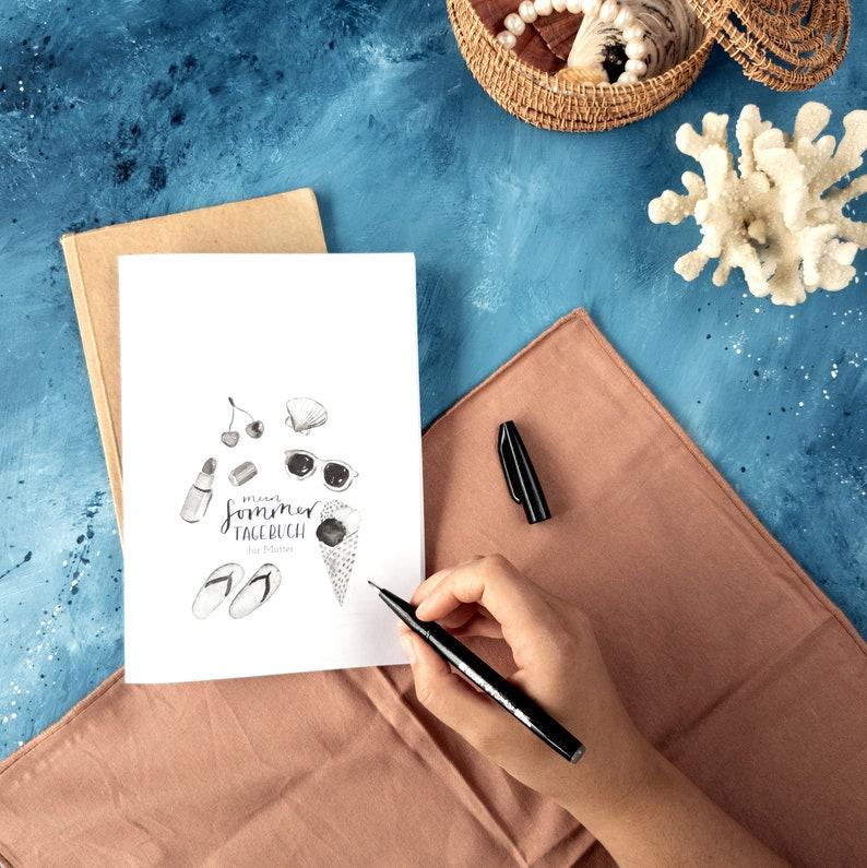 Mein Sommertagebuch  für Mütter  Ferientagebuch  PDF  image 0