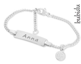 c06d098f2c ... in argento inciso nome albero della vita bracciale bambini monili 925  argento braccialetto inciso del regalo di battesimo sponsorizza gioielli  bambino ...