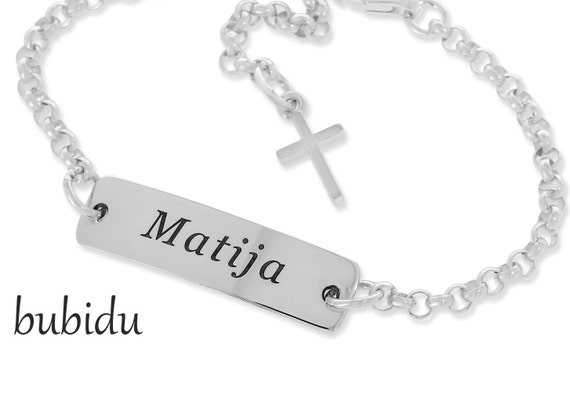Frauen Gravur Schmuck Rundösen Armband Name und Datum Echt Silber 925 Mädchen