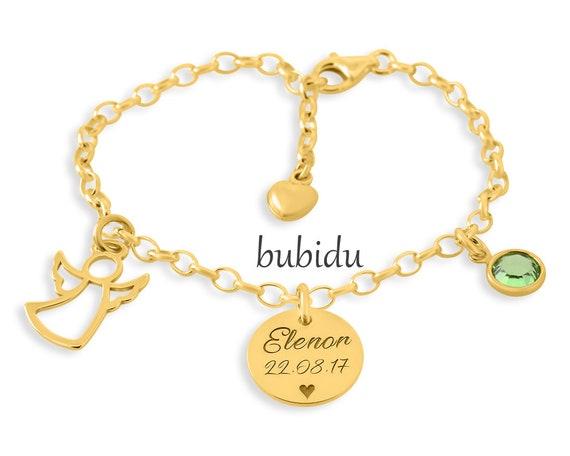 Schutzengel Armband Gravur Taufe Armband Gold
