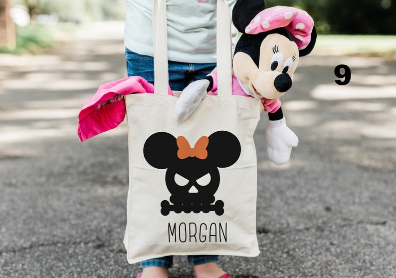 Personalized Trick or Treat Bag Halloween Tote Halloween Tote Bag Disney Halloween Halloween Bag Mickey Halloween Halloween Candy Bag