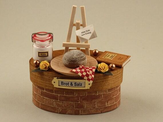 Brot Salz Zum Einzug Einweihung Neues Haus Richtfest Miniatur Deko Dose Geldgeschenk