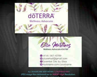 Doterra business cards etsy doterra business card essential oils business cards wellness advocate business cards personalized business cards dt57 friedricerecipe Choice Image