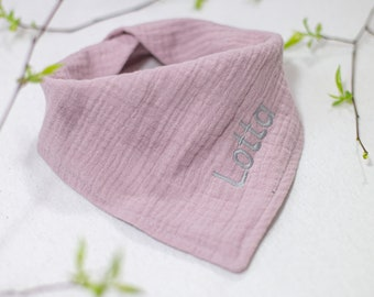 Baby triangular cloth with name/muslin cloth with name/baby towel personalized