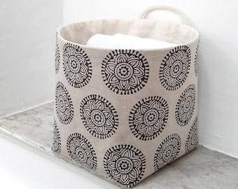"""Fabric basket """"india"""", baskets, utensils, basket, bread basket"""