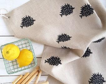 "Tea towel ""Otto"" made of hand-printed linen"