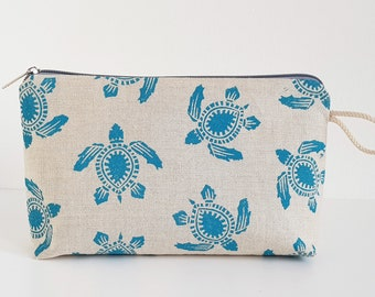 Cosmetic bag-Caretta/blue
