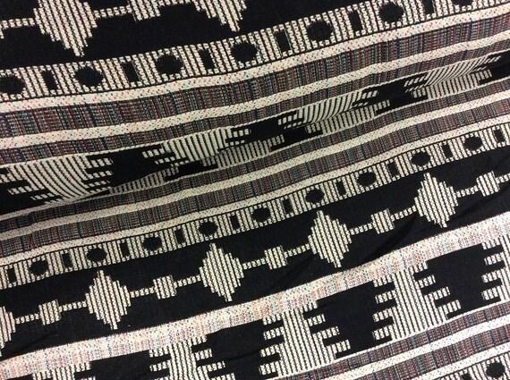 Furnishing Fabric Mexico Black Beige Ethno | Etsy
