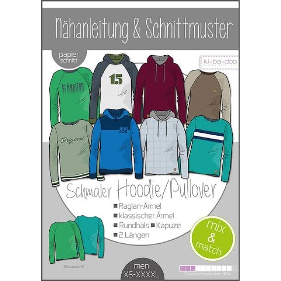 Schnittmuster kibadoo Kinder Mix/&Match Sweater//Hoodie Papierschnittmuster
