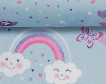 Cotton KIM, Rainbow, Butterfly, Light Blue