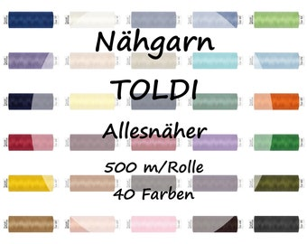 Sewing thread Allesnäher TOLDI / 500 m / 40 colors
