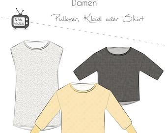 Paper Cutting Pattern, Thread Beetle, Casual Oversize Sweater Women 32-58