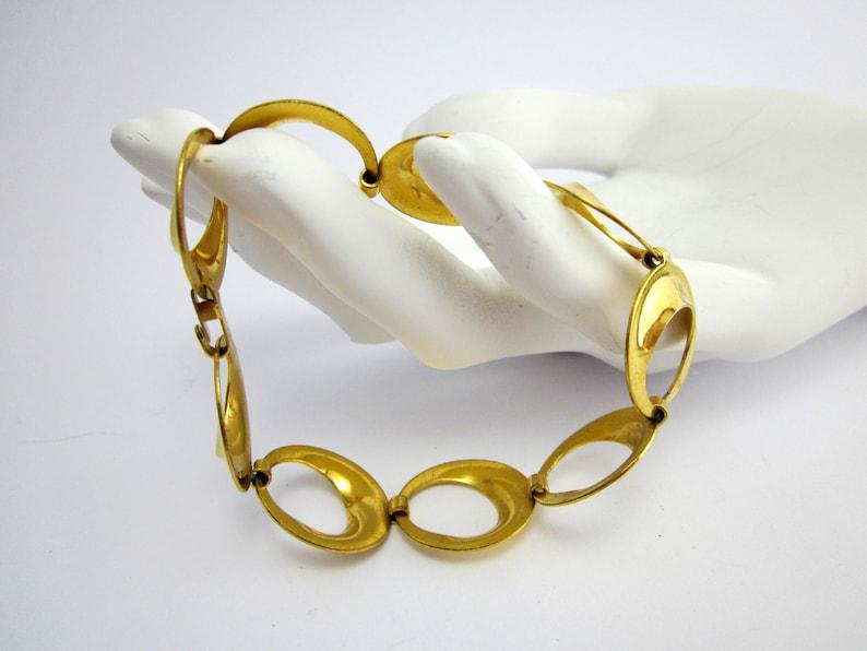 Great Double Gold Bracelet 19 cm vintage jewelry bracelet 50s
