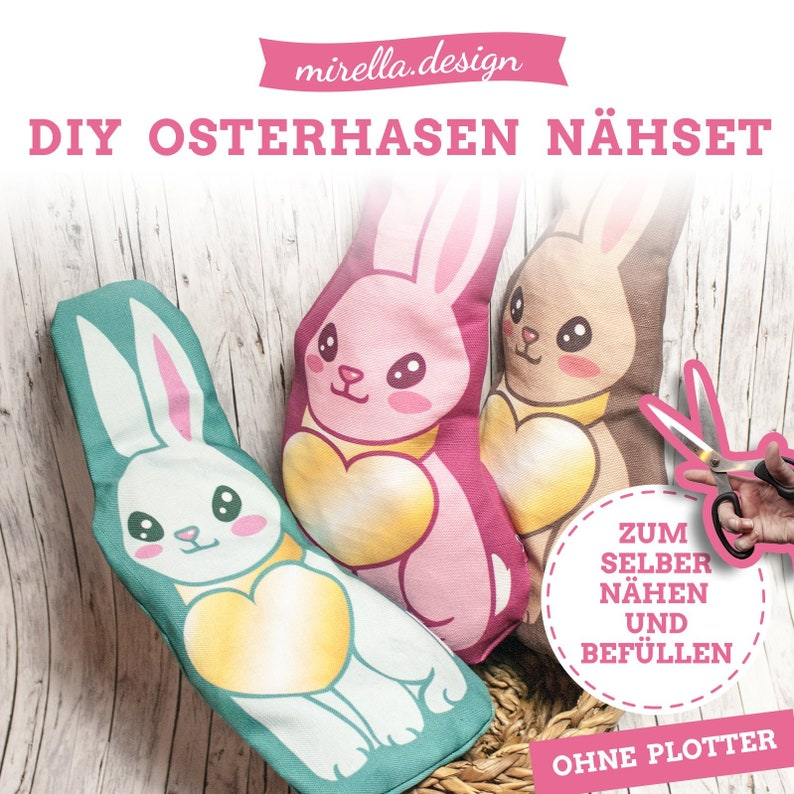 DIY Easter Bunny Sewing Set by mirella.design image 0