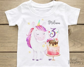 Birthday Shirt Personalized, Birthday Girl Unicorn T-Shirt TShirt
