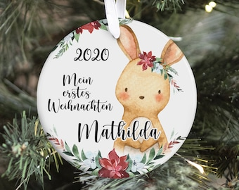 Personalized Christmas Pendant, My First Christmas, Christmas Ball, Christmas Decoration