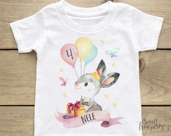 Birthday Shirt Personalized, Birthday Girl Bunny T-Shirt TShirt