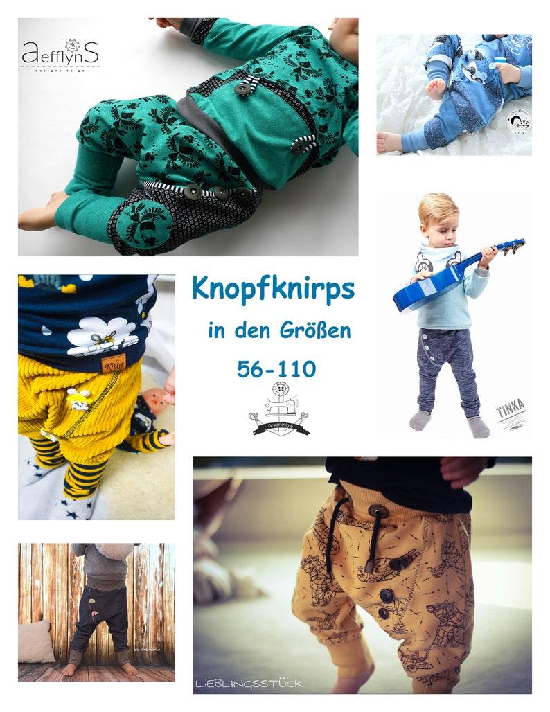 Ebook coole Hose Knopfknirps in den Größe 56-110 image 1