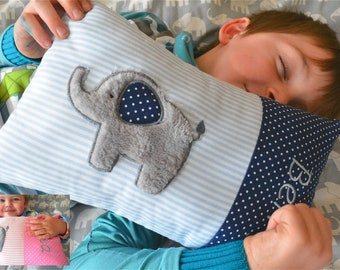 Pillows named elephant pink or blue