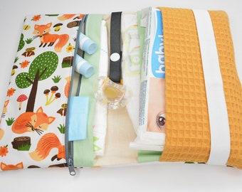 Diaper bag wrap bag forest animals