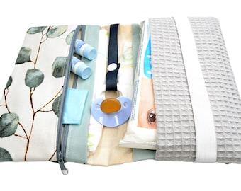 Diaper bag wrap bag eucalyptus