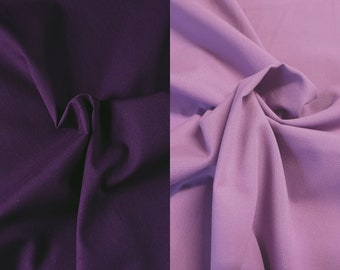 Candy Cotton - PURPLE - fine poplin, cotton - color to choose from