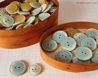Buttons, BEIGE, NATURE, Horn optics, plastic buttons to choose from