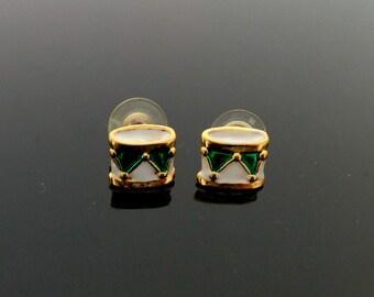 Handmade Wire Work Bike dangle post pierced lightweight black Bike Earrings in mint condition 4.5 x 3 cm total 2 Grams weight