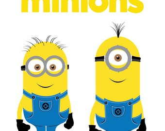 Minions Svg Boys Silhouettes Dxf Eps Png Cut FilesMinions Files For Cricut Silhouette Cameo
