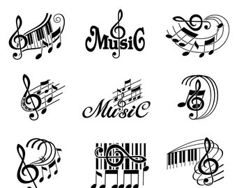 music notes etsy
