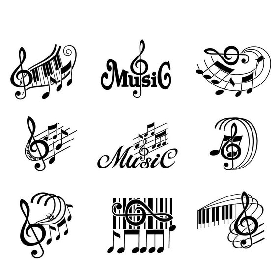 Music Svg Musical Notes Svg Treble Clef Svg Musical Staff
