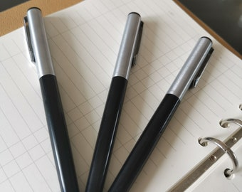 3X Hero Black 345 Fountain Pen Fude Nib 1998S Stock