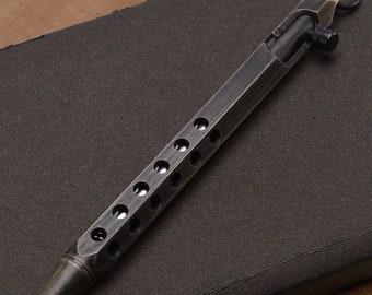 EDC Gear Tactical Ballpoint Brass Pen hexagonal prism design #2 Pattern
