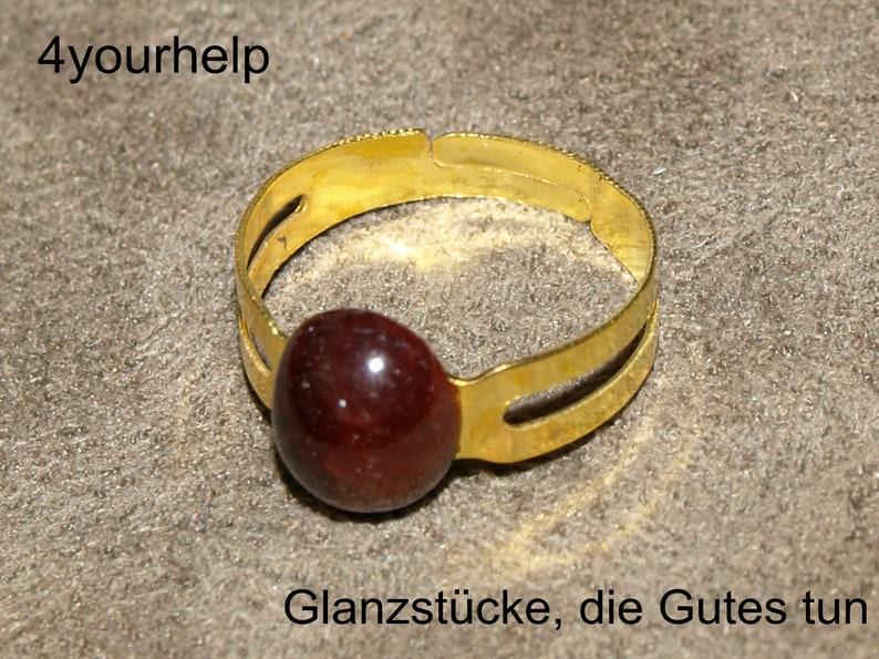 Tard ring with red tiger eye