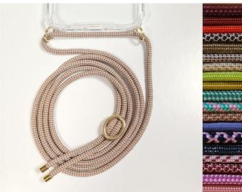 Handykette für iPhone 7/8/SE 2 (2020) - in 20 Farben - Handy-Band Kordel Necklace mit Hülle zum umhängen von Pink Cinnamon