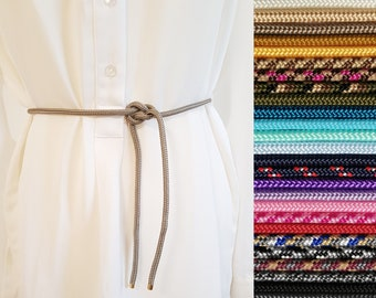 Belt Waist belt adjustable from rope rope in 25 different colors silver or gold