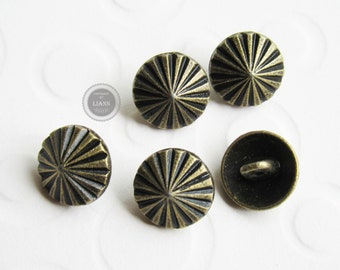 Näh 13mm antikkupfer Keltic Flower Bekleidung 10 Ösenknöpfe Metall-Knöpfe ca