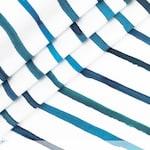 0.5 m Premium Cotton-Watercolor strips-Blue BioBunt