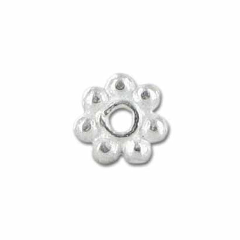 Sterling Silver Daisy Bead Spacer 5MM
