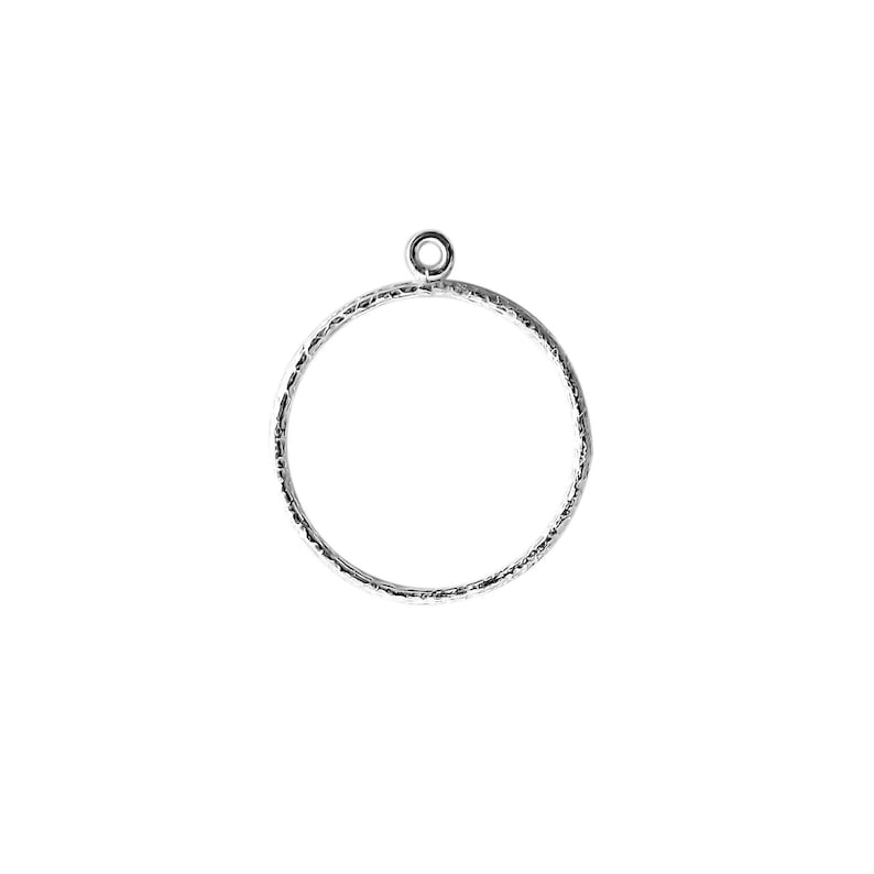 26MM Silver Overlay Chandelier Earring Finding Round Ring Shape