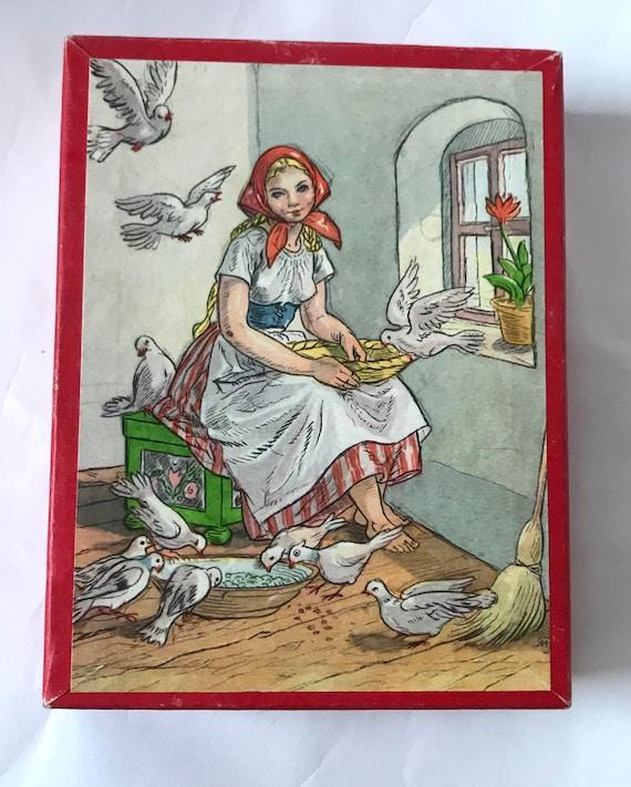 Vintage Würfelspiel Legespiel Aschenputtel | Etsy