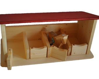 8b837a80b Wooden Horse Stable Toy - All About Wooden