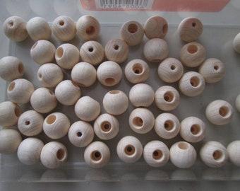 100 Sicherheitsperlen Holzperlen Perlen 12 mm Fädeln Schnullerketten Farbwahl